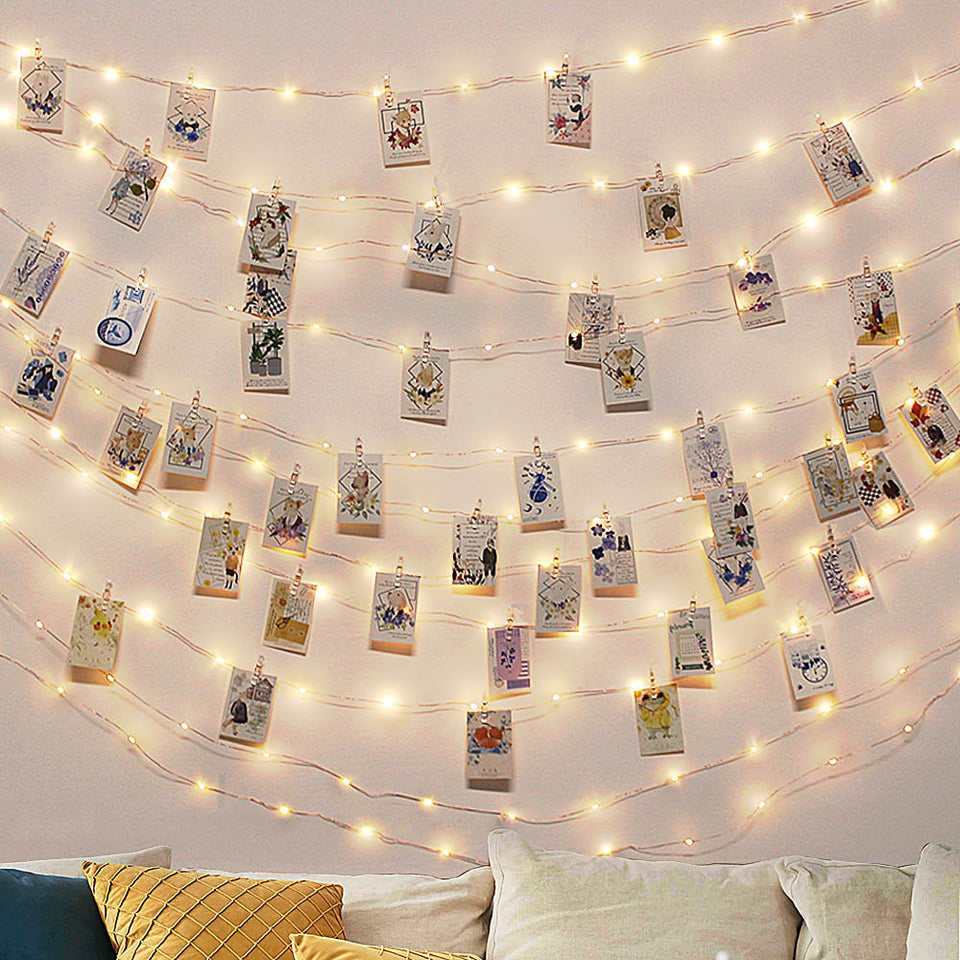 2M/5M/10M Photo Clip USB LED String Lights