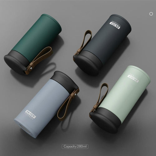 Double Stainless Steel Vacuum Flasks 280ml Car Travel Thermos