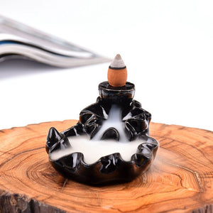 Waterfall Backflow Incense Burner Cone Stick Holder