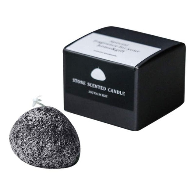 Stone-shaped Candles Ice Flower Scented Candle