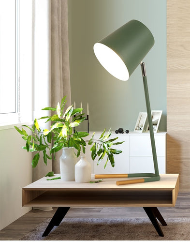 LukLoy Nordic Modern Minimalist Table Lamp Bedroom Bedside Lamp Study LED Rotatable Table Light LED Learning Eye Desk Lamp