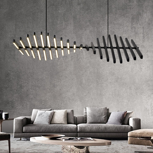 Modern minimalist crreative  LED Chandelier Black/White Office Pendant hanging lighting