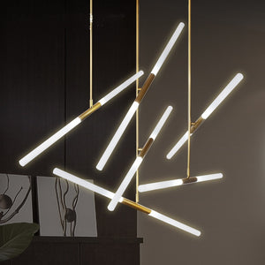 Modern LED Chandelier Iron and Glass Hanging lights