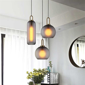 Modern Glass Ball Pendant Light Fixture Kitchen Dining Room Bedroom Hanging Lamp