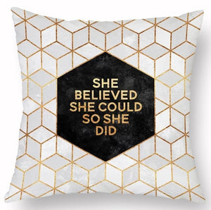 Geometric Throw Pillow Cover