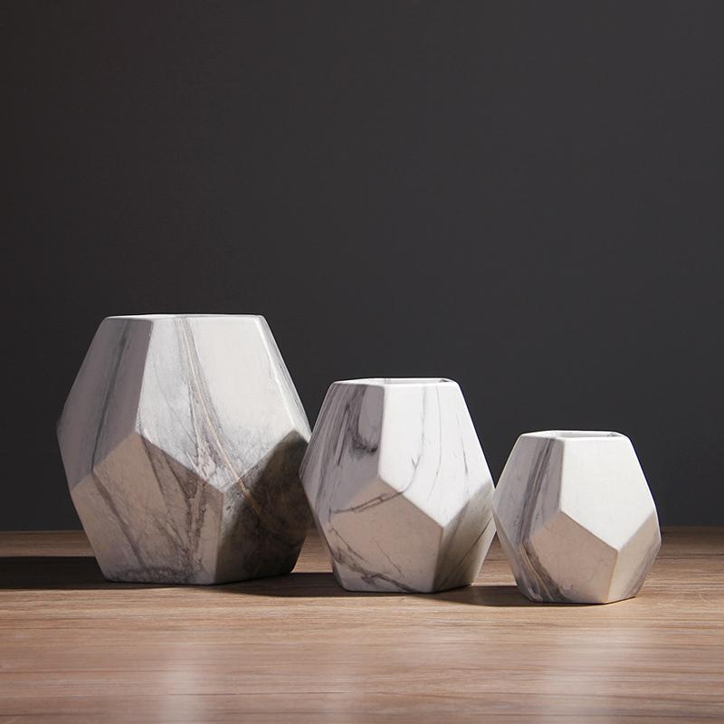 Geometric-II Marble Vase Collection