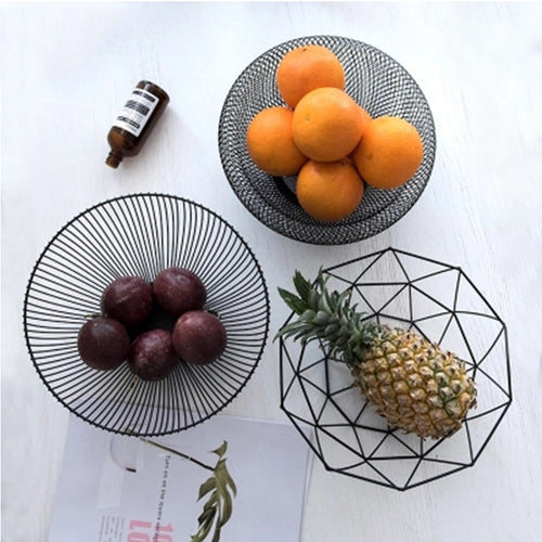 Iron Art Fruit Vegetable Storage Organizer Basket