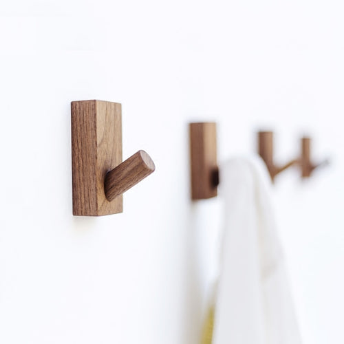 Beech Wood Black Walnut Wooden Art Design Robe Hook