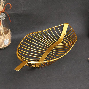 Leaf Shaped Fruit Basket Simple Candy Snack Storage Plate