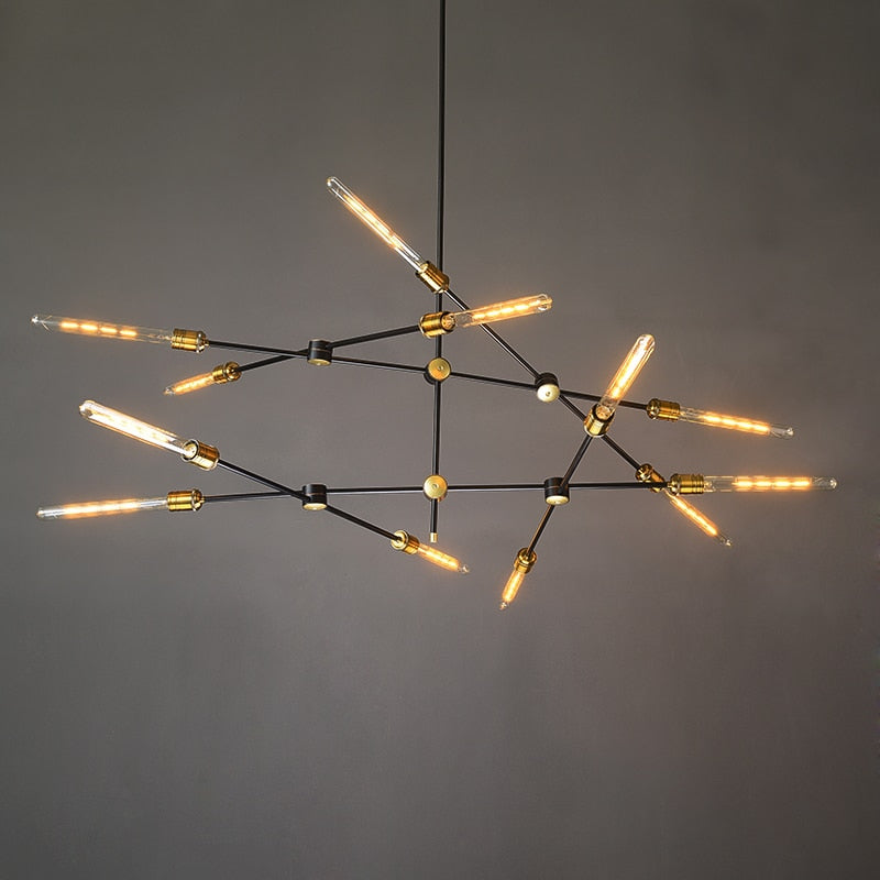 Retro Iron Art Chandelier Lighting Nordic Simple Industrial Branch Lustres Decor pendant lighting