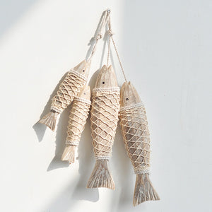Scandinavian Hanging Decoration Vintage Wooden Crafts Fish