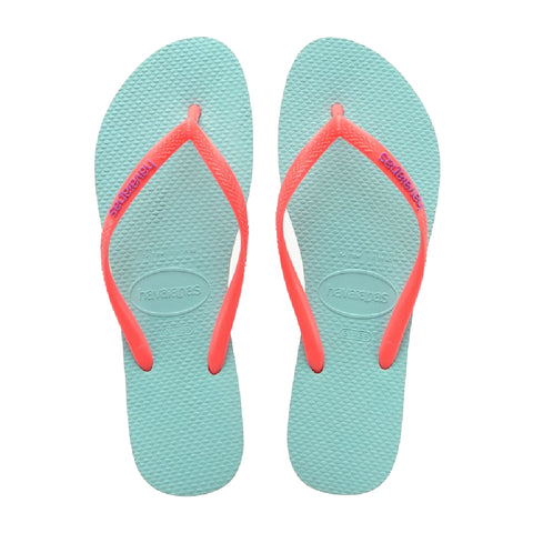 Havaianas Slim Logo Ice Blue Coral New H4119787-0274P