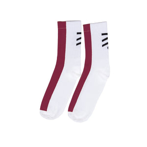 TramTrys Burgundy Stripe Socks