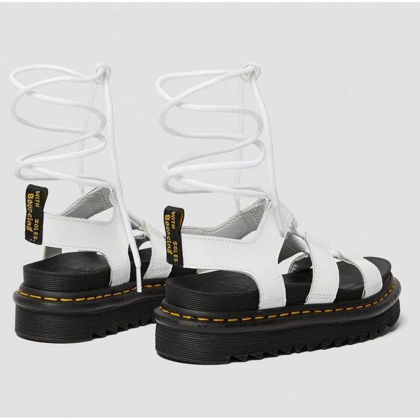 Dr. Martens Nartilla White Hydro Leather Sandals 24641100