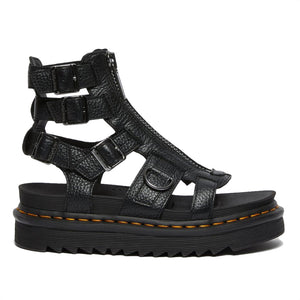Dr. Martens Olson Black Milled Nappa Sandals 26561001