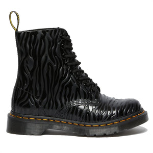 Dr. Martens 1460 Pascal Black Zebra Gloss Emboss Smooth 26716001