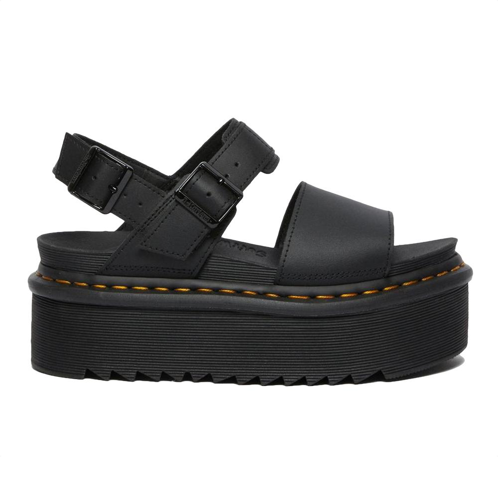 Dr. Martens Voss Quad Black Hydro Leather Sandals 26725001