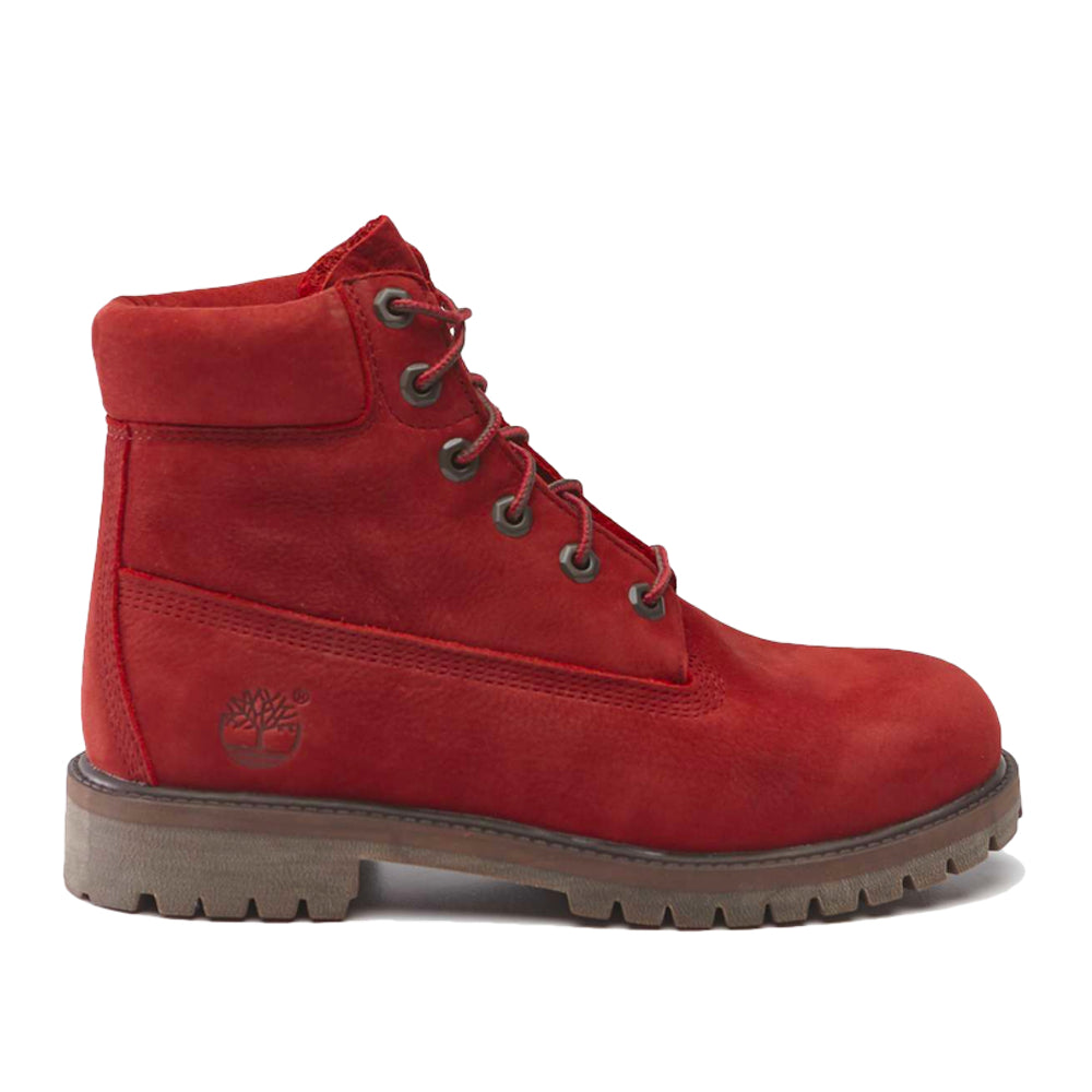 Timberland 6 Inch Waterproof Boot Dark Red Nubuck TB0A2954V151