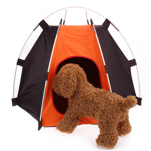 Portable Folding Camping Pet Dog Cat Tent House Shelter Rainproof Washable Dirt-resistant Pet Dog Cat Tent - Camping And Outdoor Supplies