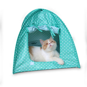 Foldable Dogs Cats Tent pet cat House dog cat bed All Seasons Dirt-resistant Outdoor Camping Home Travel House Pet Tent - Camping And Outdoor Supplies