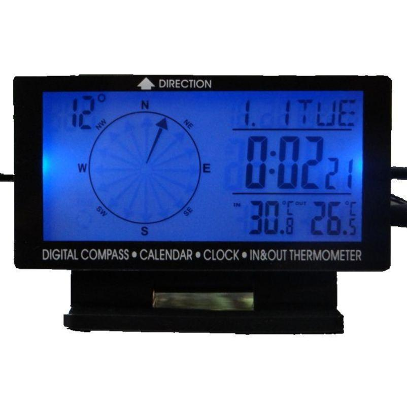 Blue Backlight Car Compass - Camping And Outdoor Supplies