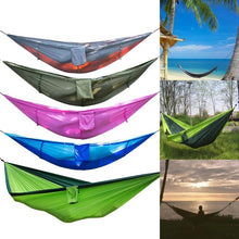 Load image into Gallery viewer, Portable Hammock Outdoor Camping Hunting Mosquito Net Parachute Nylon Hammock Hanging Bed Leisure Swing Sleeping Bed - Camping And Outdoor Supplies