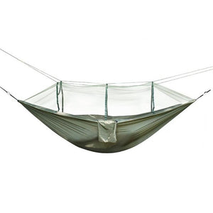 Portable Hammock Outdoor Camping Hunting Mosquito Net Parachute Nylon Hammock Hanging Bed Leisure Swing Sleeping Bed - Camping And Outdoor Supplies