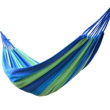 Load image into Gallery viewer, Portable Outdoor Garden Hammock Travel Camping Swing Hang Bed Hiking Picnic Leisure Canvas Stripe Hammock Outdoor Hammock - Camping And Outdoor Supplies