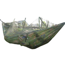 Load image into Gallery viewer, Portable Hammock Outdoor Fabric Camping Hanging Hammock Mosquito Net Parachute Bed Leisure Backpacking Beach Garden Hammock - Camping And Outdoor Supplies
