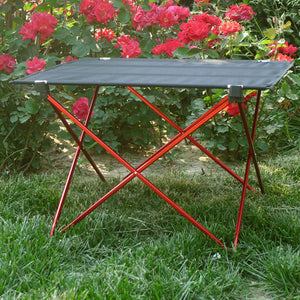 Furniture Red Folding Table - Camping And Outdoor Supplies