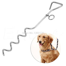 "Load image into Gallery viewer, Steel Spiral Anchor Stake Tie Down Out with Ring For Dog or Camping Tents 18"" Oct18 Drop Ship - Camping And Outdoor Supplies"
