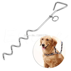 "Steel Spiral Anchor Stake Tie Down Out with Ring For Dog or Camping Tents 18"" Oct18 Drop Ship - Camping And Outdoor Supplies"