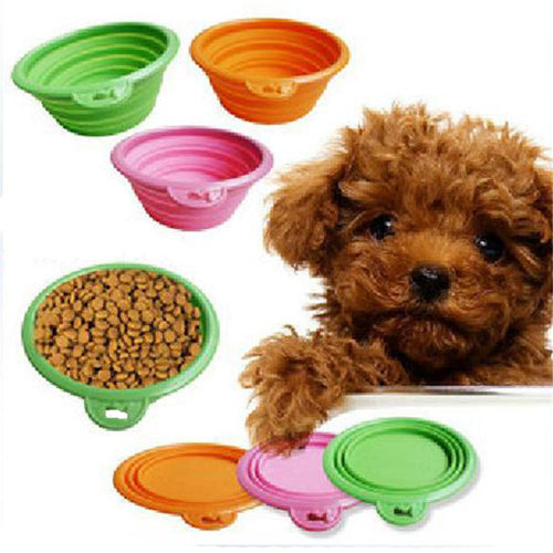 New Dog Bowl Portable Pets Foldable Bowl Camping Water Food Travel Bowl Feeding - Camping And Outdoor Supplies