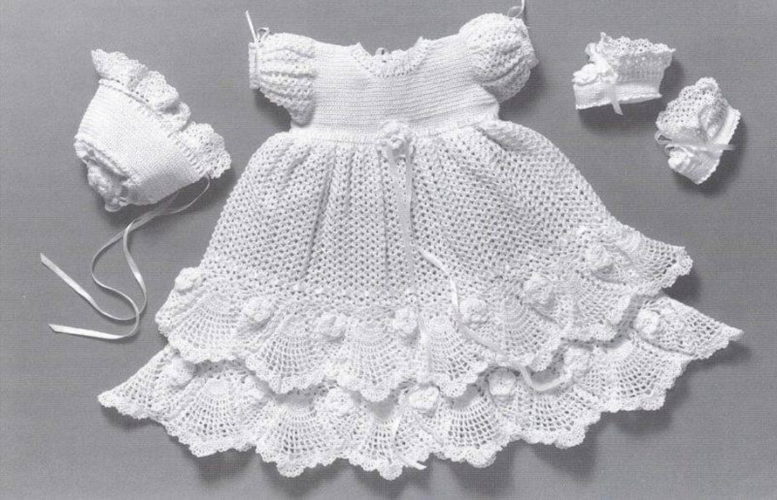Handmade Crotchet heirloom 3pc set