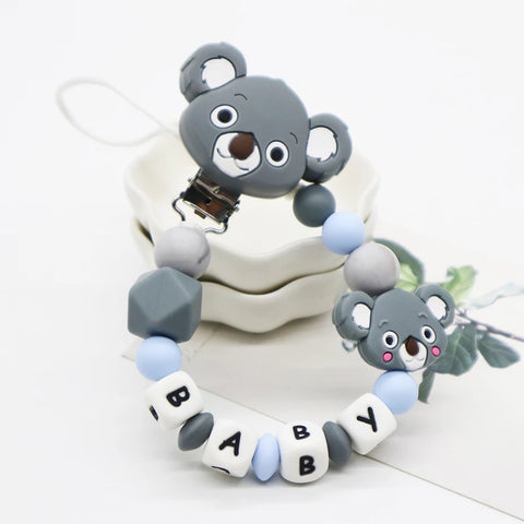 Pacifier Holder Koala Blue