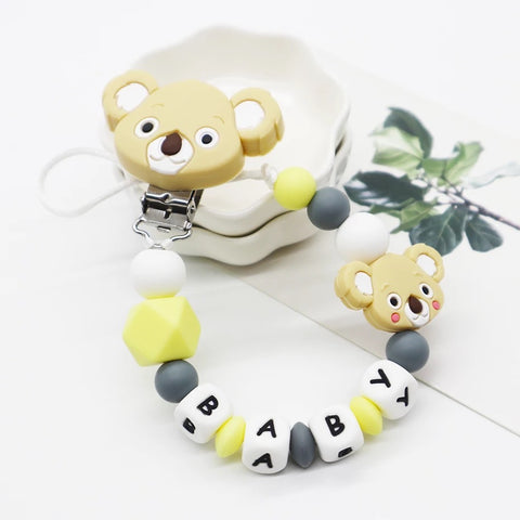 Pacifier Holder Koala Mustard