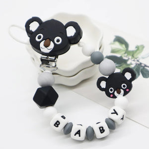 Pacifier Holder Koala Grey & Black