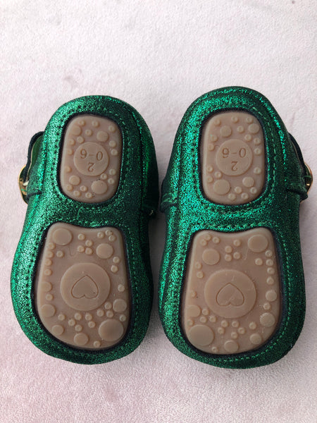 Baby shoes Leather T bars with rubber sole Little Mermaid