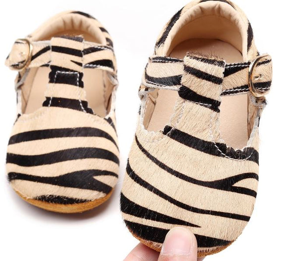 Leather Baby Gazelle T Bar Buckle Soft Sole Shoes