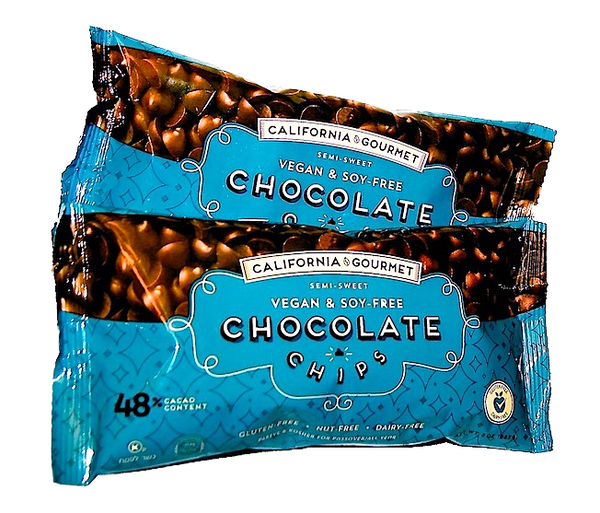 48% Cocoa - Soy Free Chocolate Chips - Vegan  - 6 pack