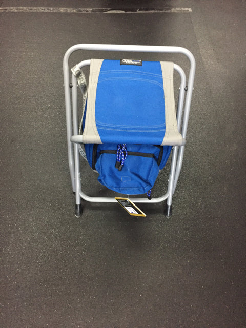Travel Chair Cooler Stool Blue/Grey New Camp Chair