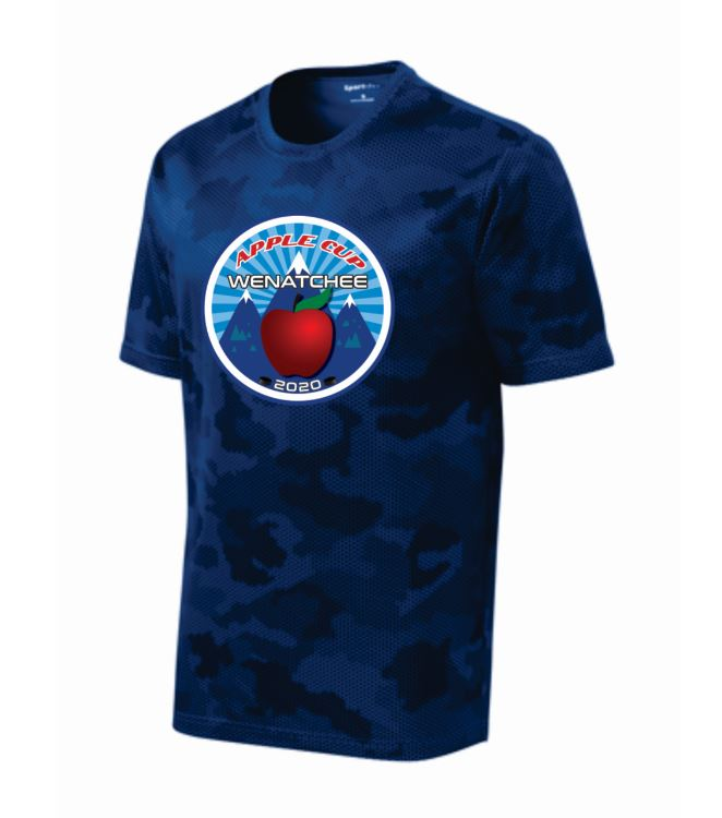 Wenatchee Apple Cup New Blue Camo Performance Tee