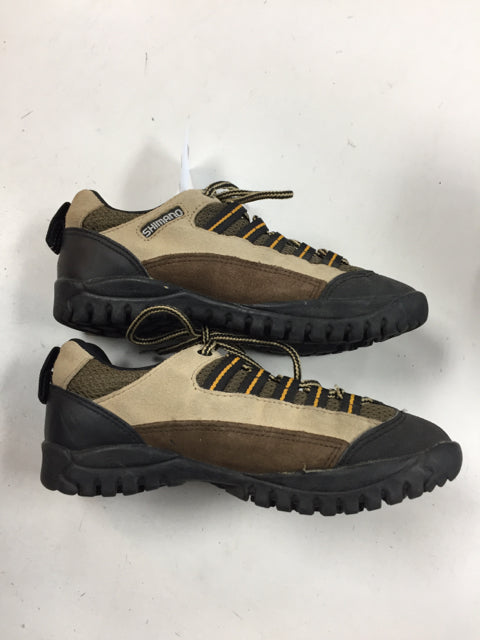 Shimano SPD Tan JR 3.5 Used Biking Shoes