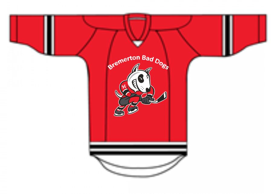 Red Bremerton Bad Dogs New Hockey Jersey