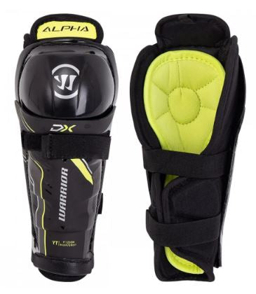"Warrior Alpha DX Black Youth Size Specific 8"" New Hockey Shin Guards"