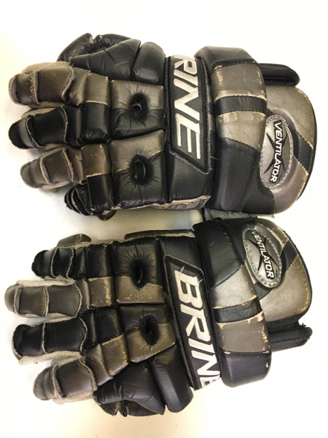 Brine Ventilator Black/Silver Size Sr. Used Lacrosse Gloves