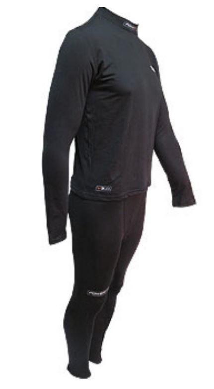 Powertek V3.0 Combo Black New Sr. Size Specific Large Hockey Base Layer