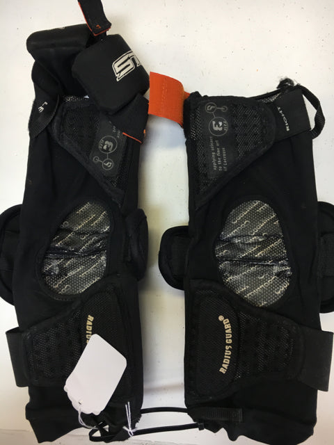 STX E Flex Black Sr. Large Used Lacrosse Arm Pads & Wrist Guards