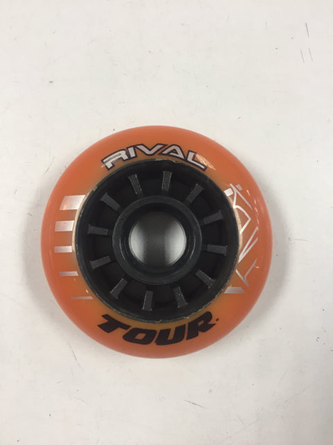 Tour RIVAL Orange Wheel Size 72mm Slightly Used Inline Wheels