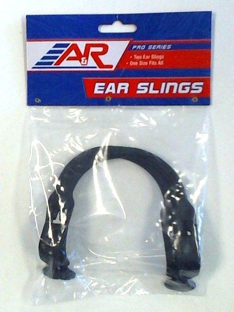 A&R Pro Series Black New Ear Slings Hockey Helmet Acc.